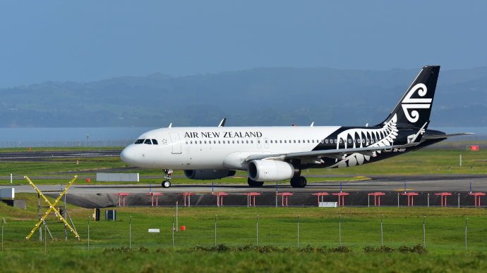 Auckland International Airport is a hub for Air New Zealand.